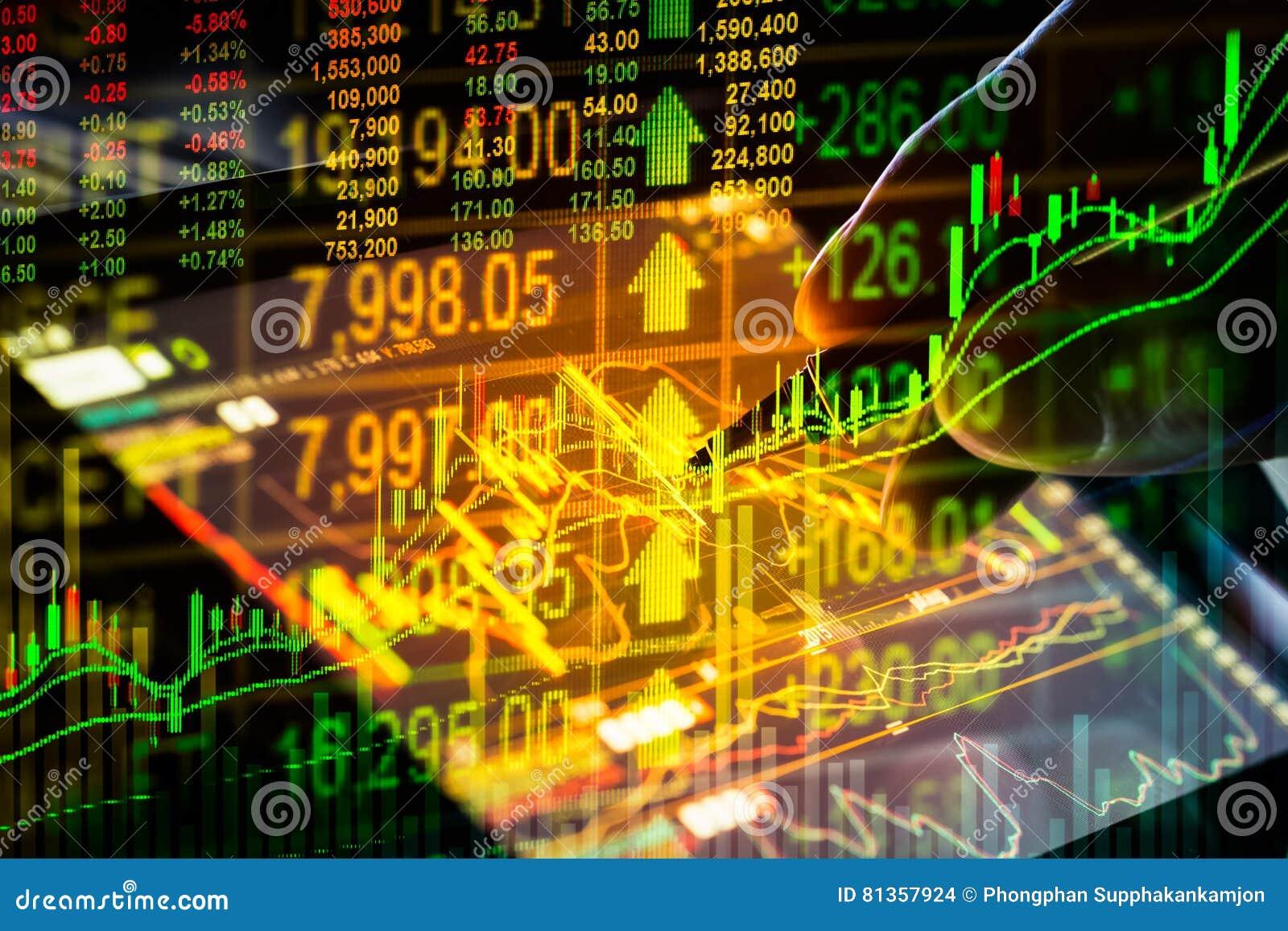 Aktiemarknadindikator och sikt för finansiella data från LETT double