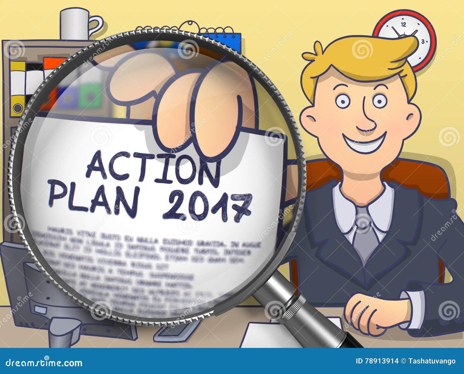 Aktionsplan 2017 Durch Linse Blauer Nahtloser