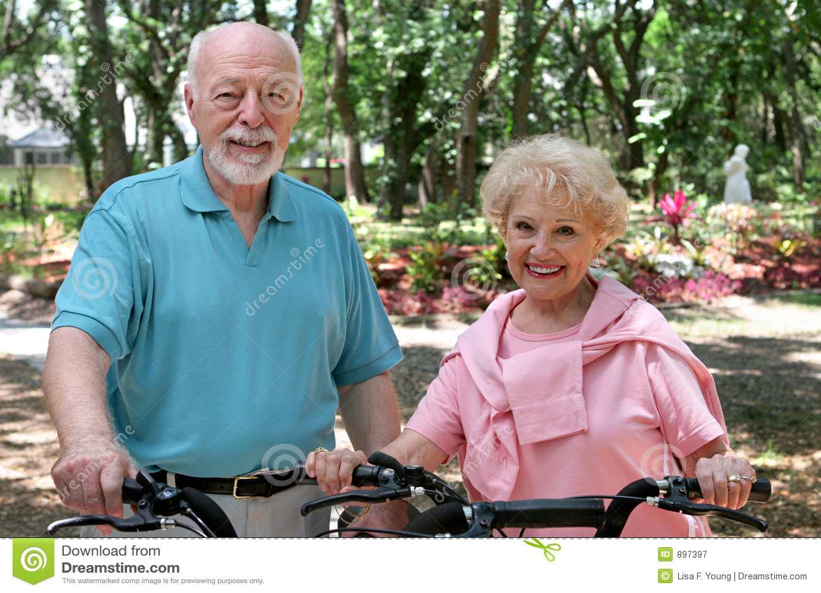 Aktive ältere Radfahrer