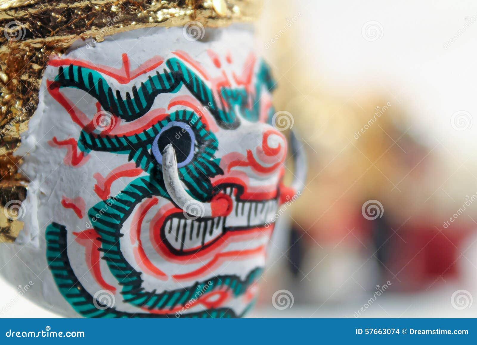 Aktor maska Tajlandzki tradycyjny