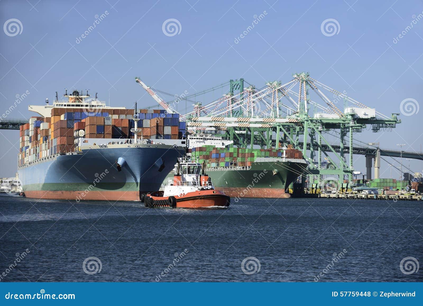 Aktywność ładunku Hamburg portu statek