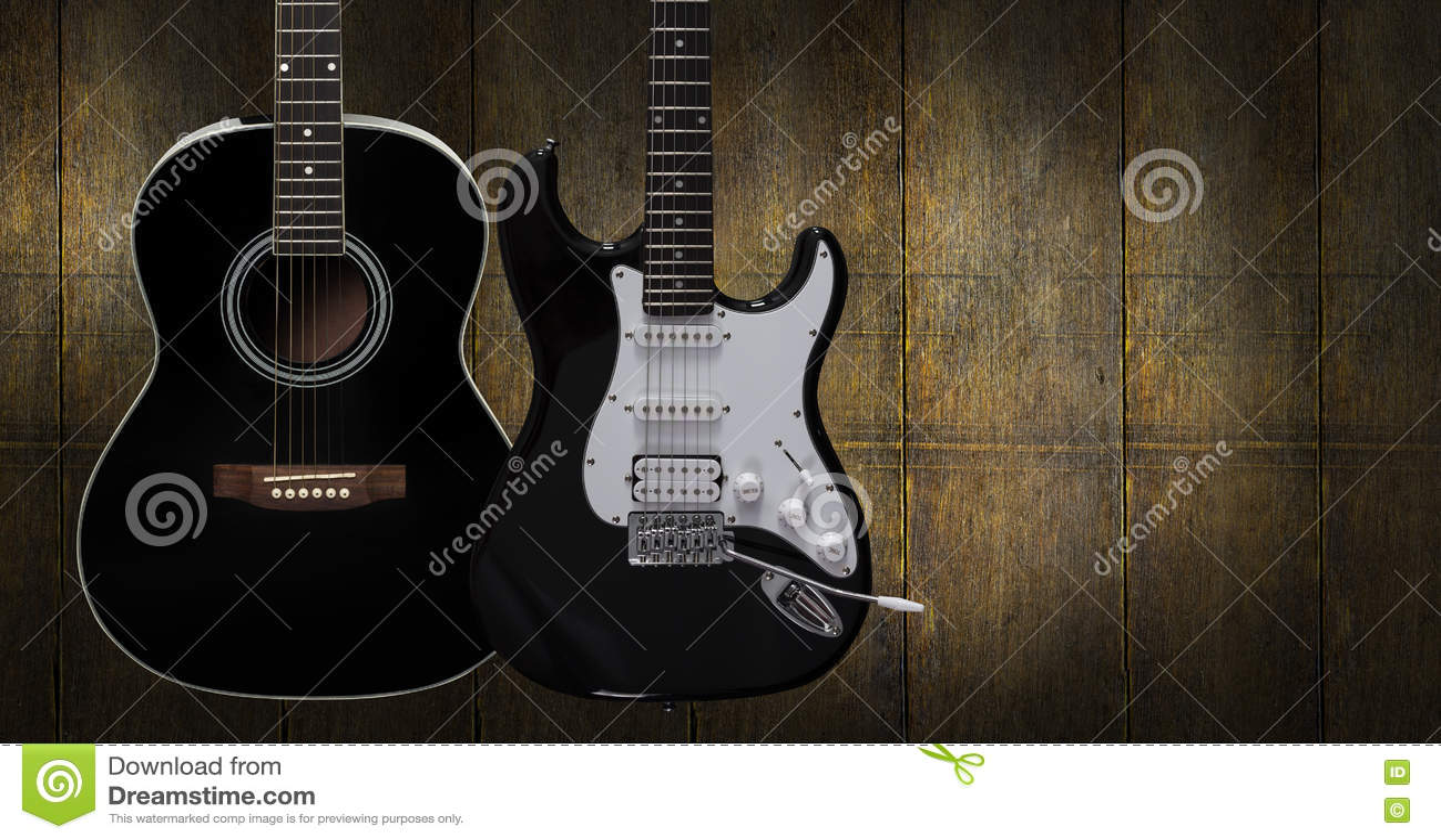 Akustische und elektrische Gitarre