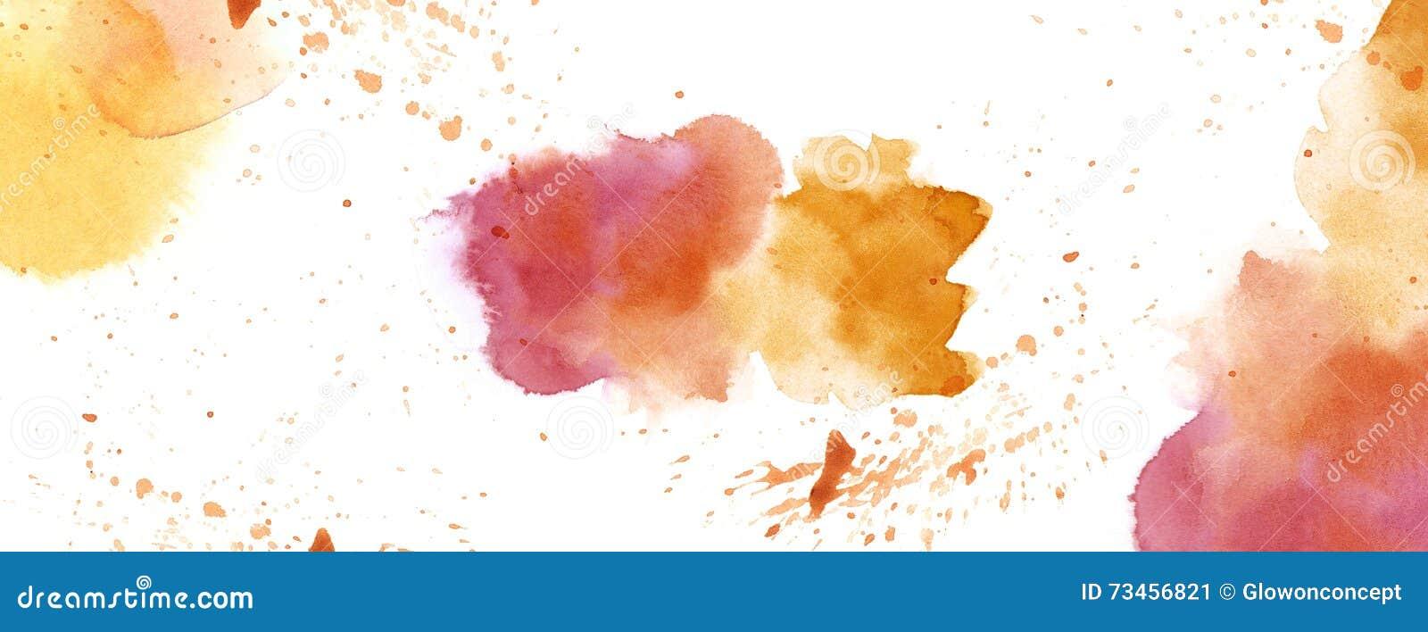 Akvarell med utrymme för kopia för färgstänkfläckbakgrund vitt