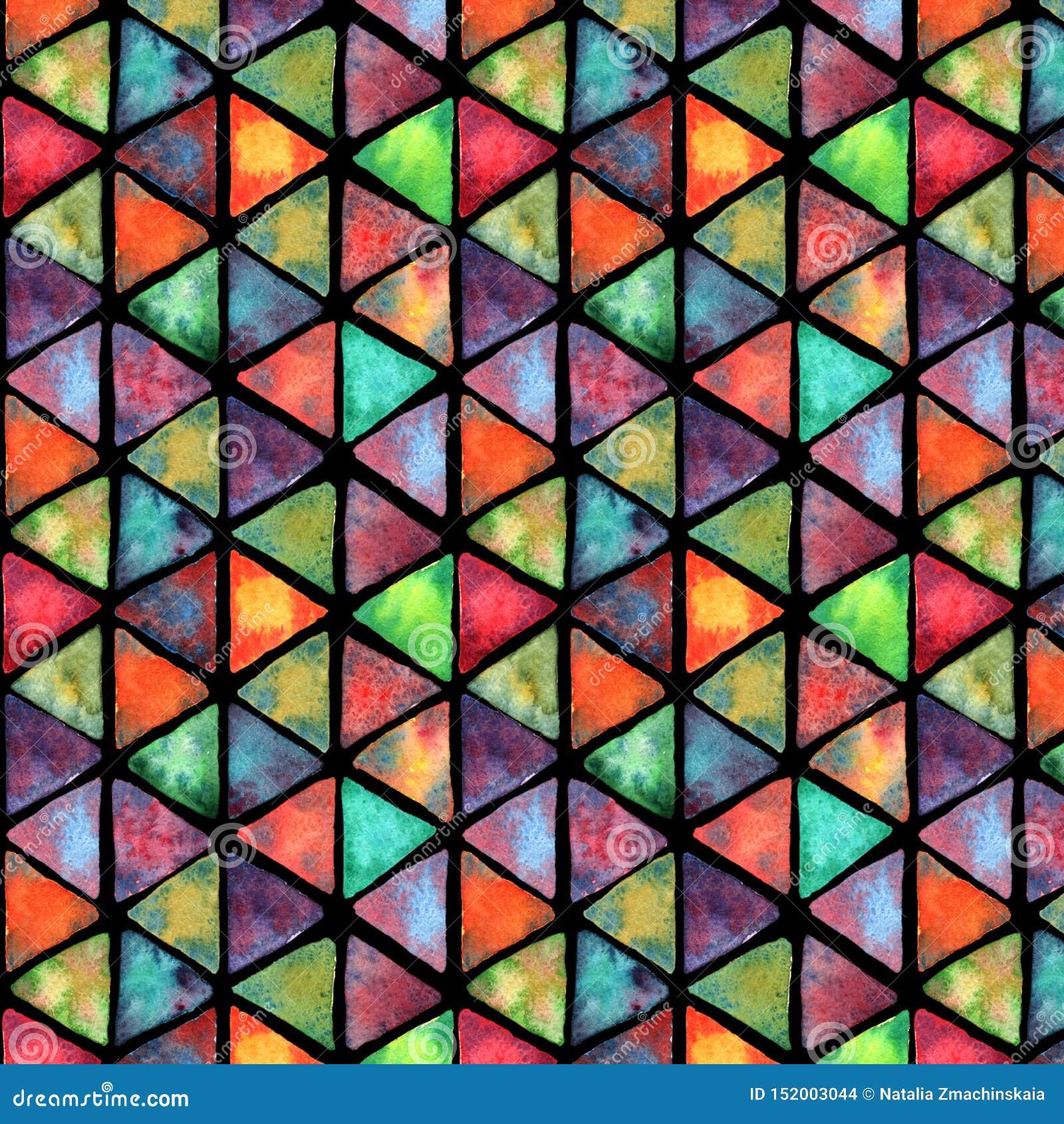 Akwarela bezszwowy kolorowy wzór Wielki dla tkaniny, tkanina, tapeta
