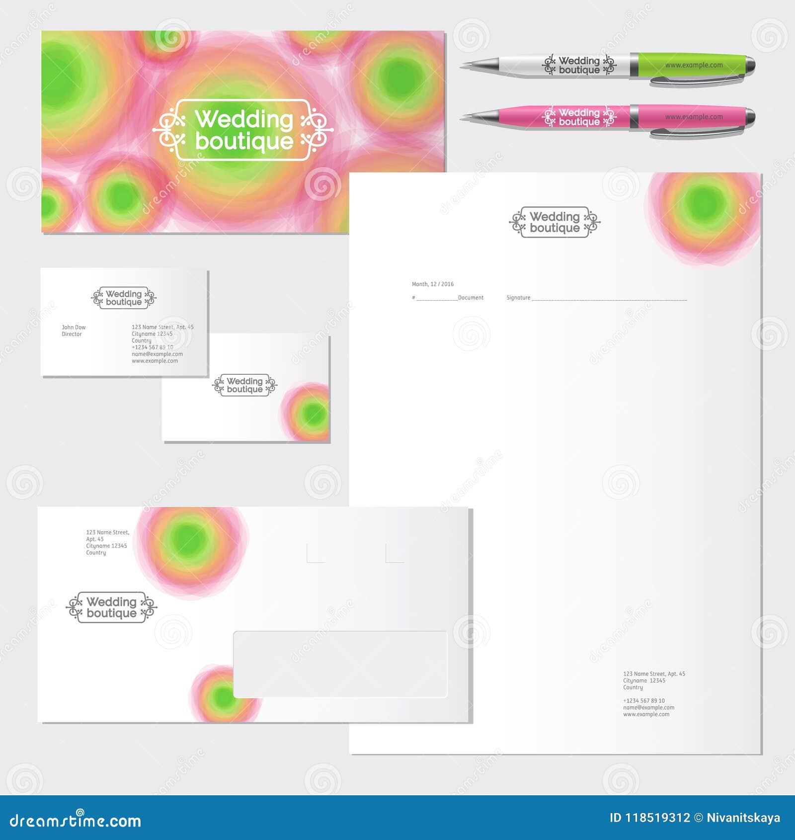 Akwarela kwiatu tożsamość & logo Ślubny salonu logo ilustracji sklepu smellcomp kwiat tożsamość