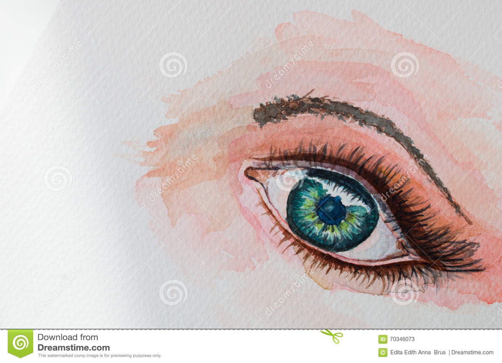 Akwarela obrazu oko