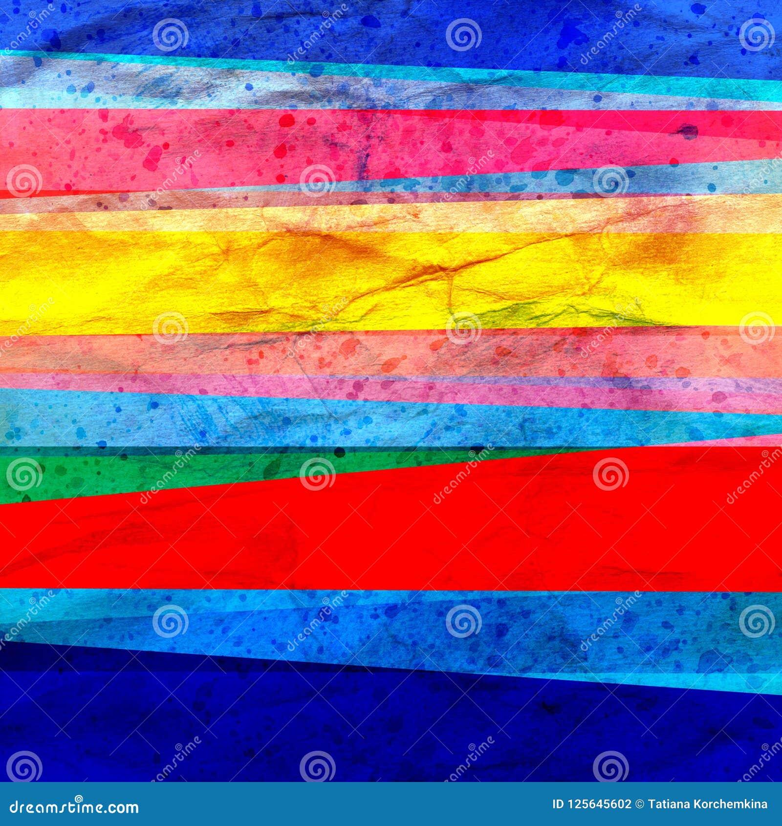 Akwareli sztuki retro koloru tła abstrakcjonistyczni geometryczni lampasy