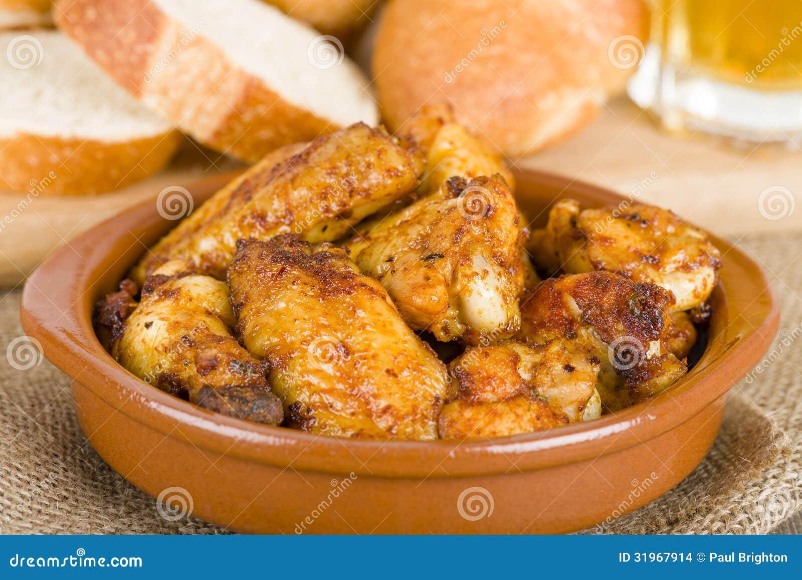 tapas de pollo
