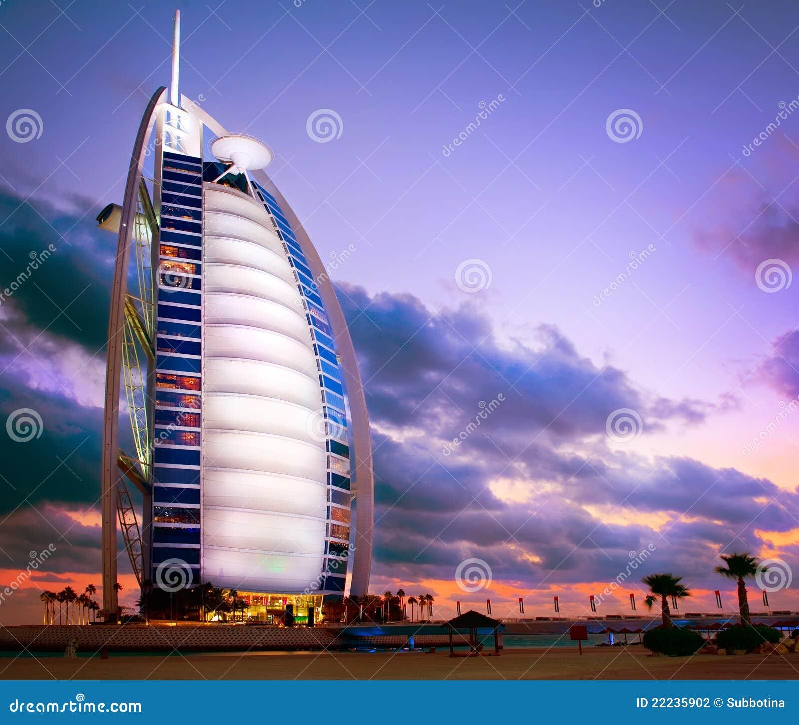 Al arabski burj Dubai hotel