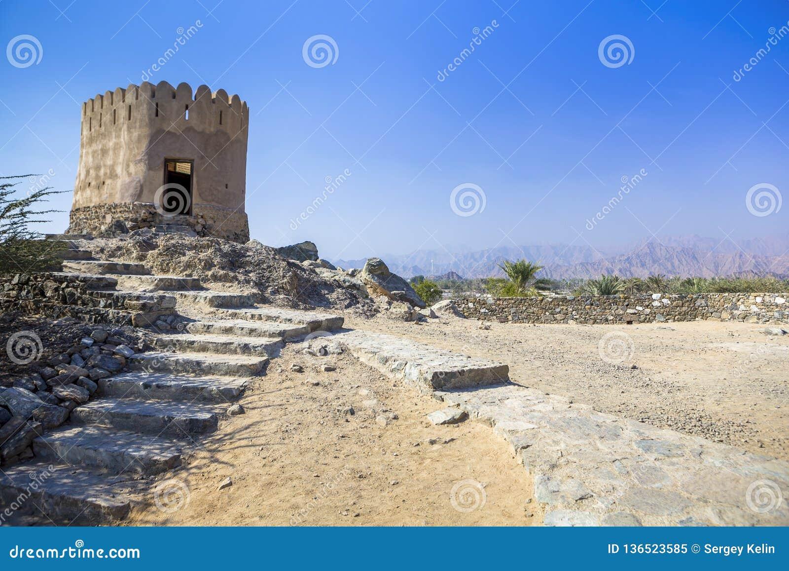Al Badiyah meczet - jest stary w UAE