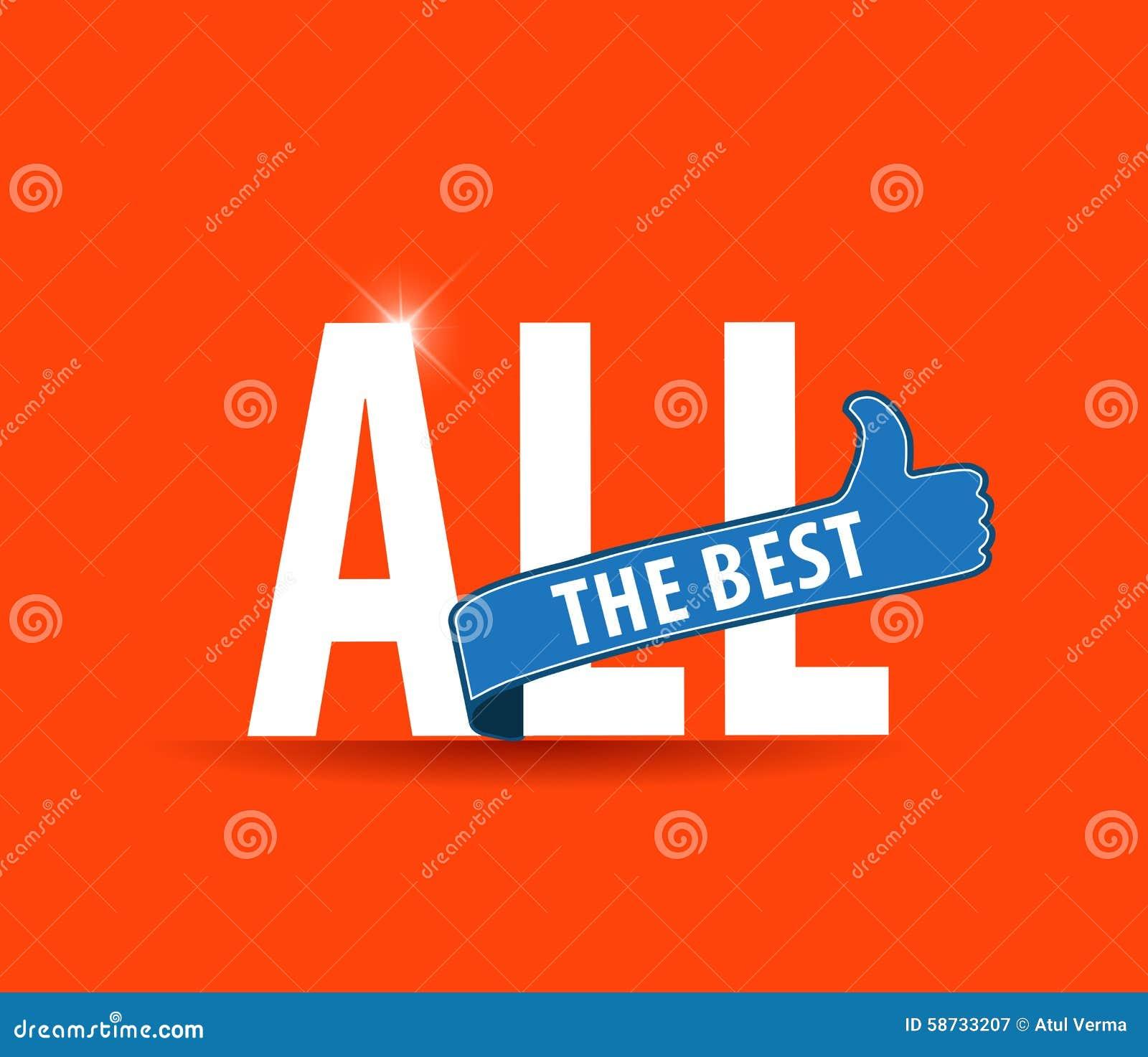 Al Beste Motieven Grafisch Voor Beste Wensen Goed Geluk Vector