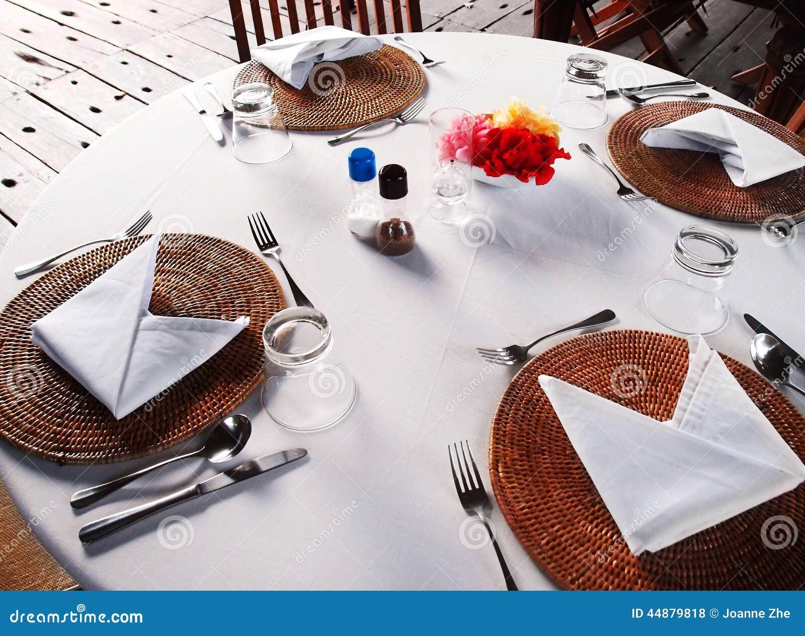Al Fresco Dining Table Setting Stock Photo Image 44879818