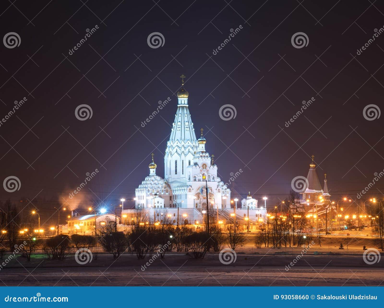 Al heiligenkerk in Minsk, Wit-Rusland Herdenkingskerk van Alle Heiligen en in Geheugen van de Slachtoffers
