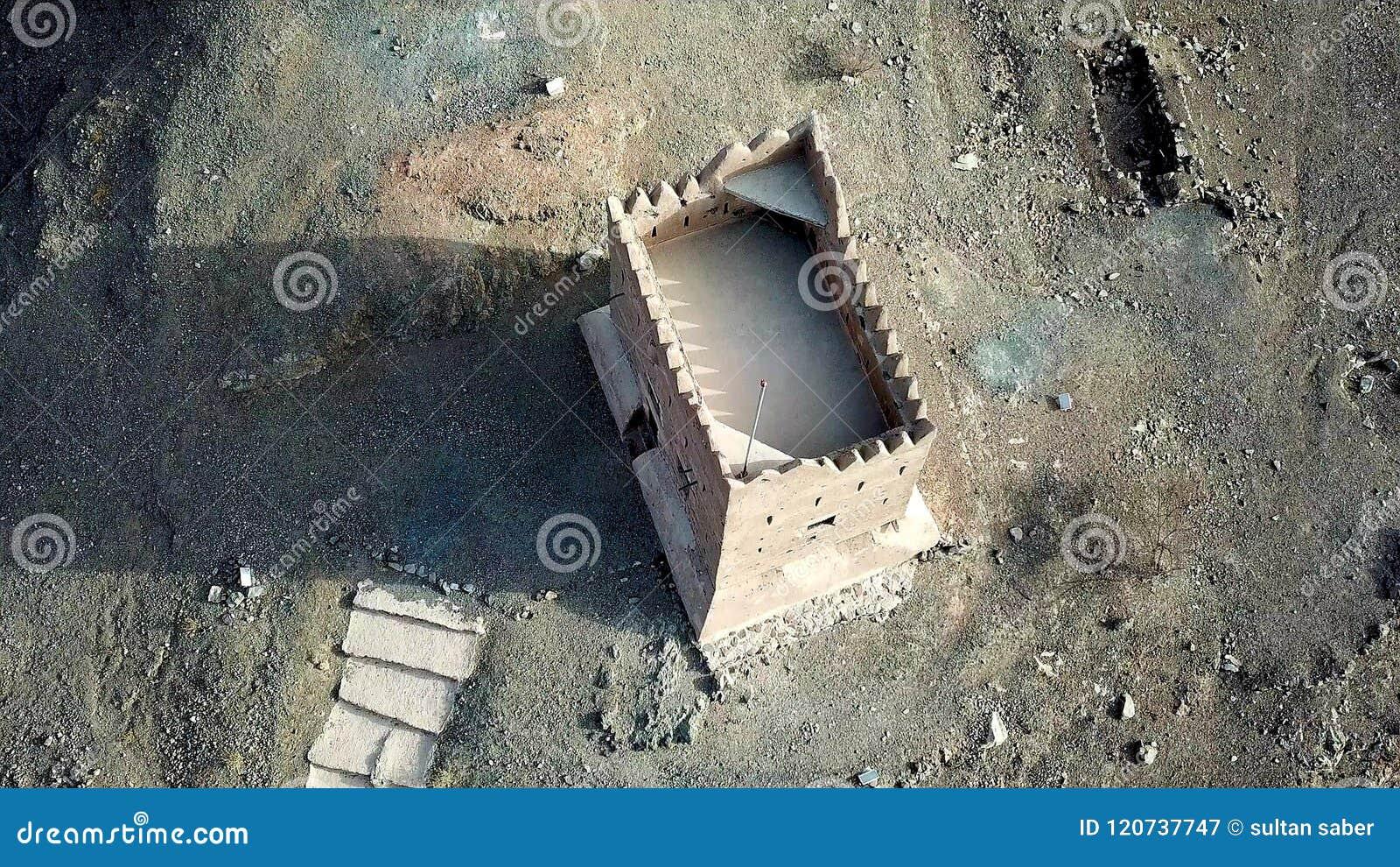 Al het hagel fujaiarh fort de V.A.E verenigde Arabische Emiraten Doubai een geschiedenis