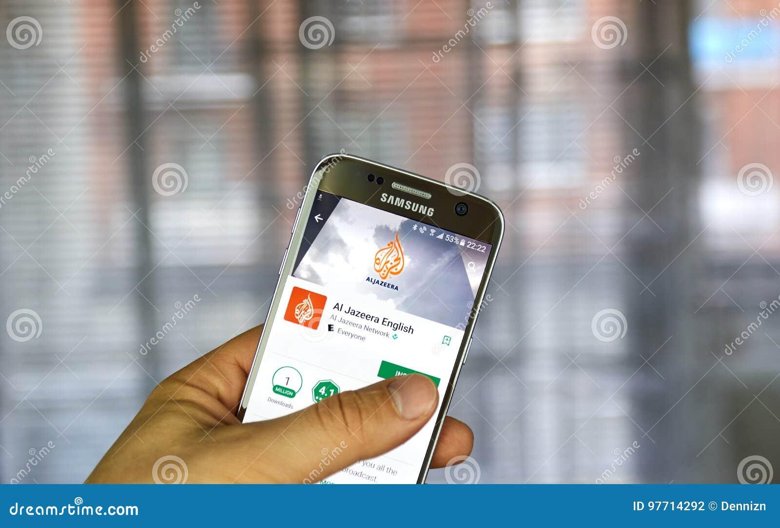 Al Jazeera app en el teléfono de Android