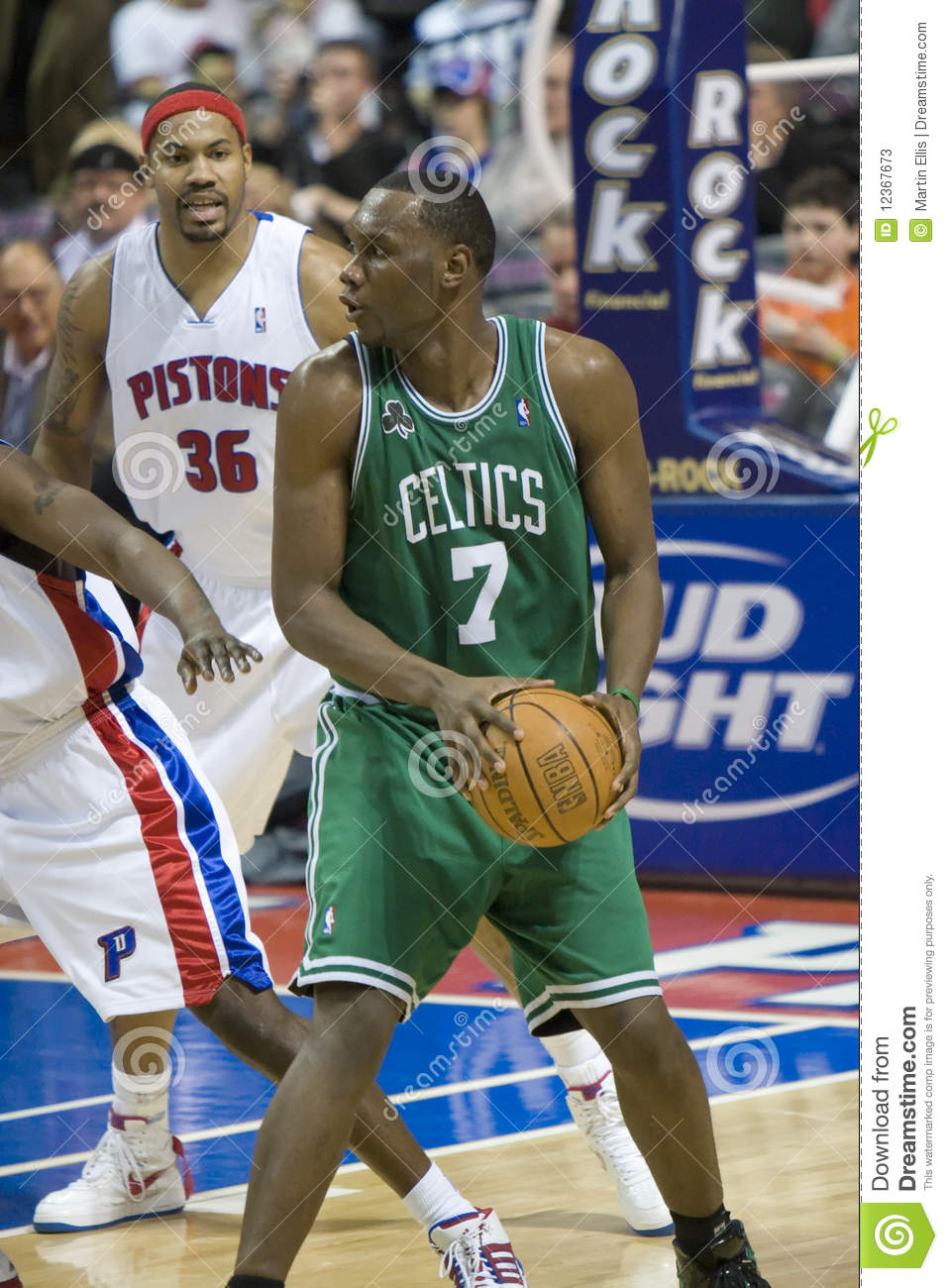 Al Jefferson The Boston Celtics Editorial Stock Image