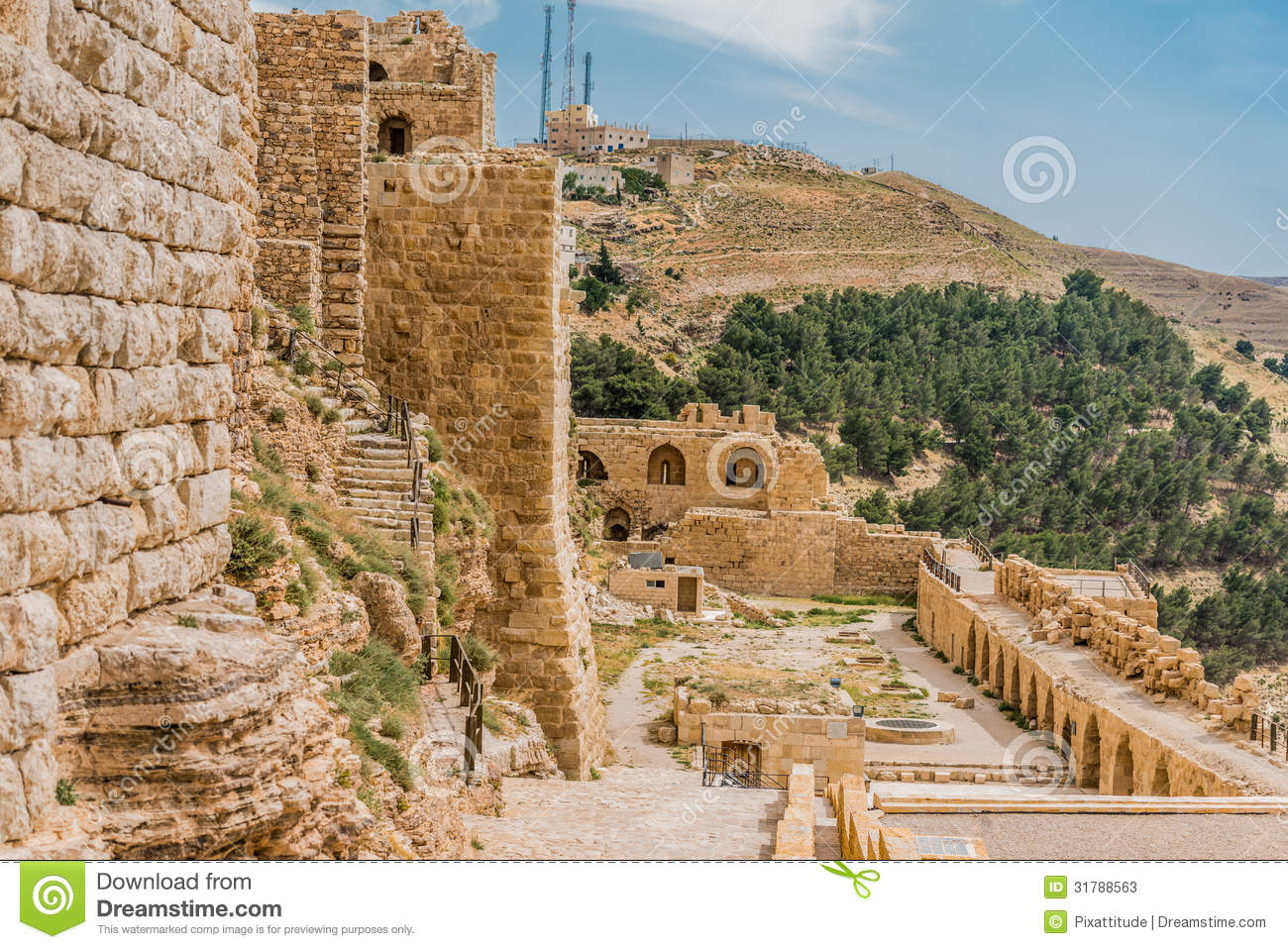 Karak Jordan  City pictures : Al Karak Kerak Crusader Castle Fortress Jordan Stock Photos Image ...