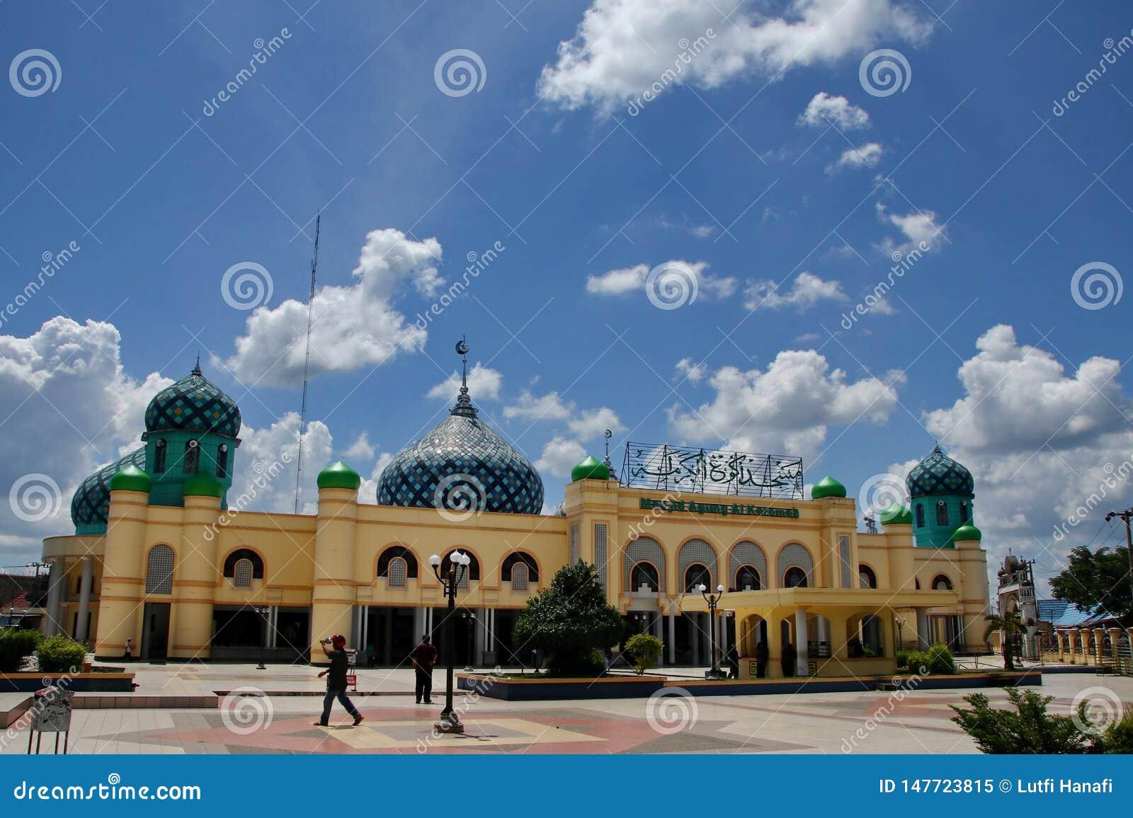 Al Karomah Great Mosque le lieu de culte principal pour des musulmans dans la ville de Banjarbaru