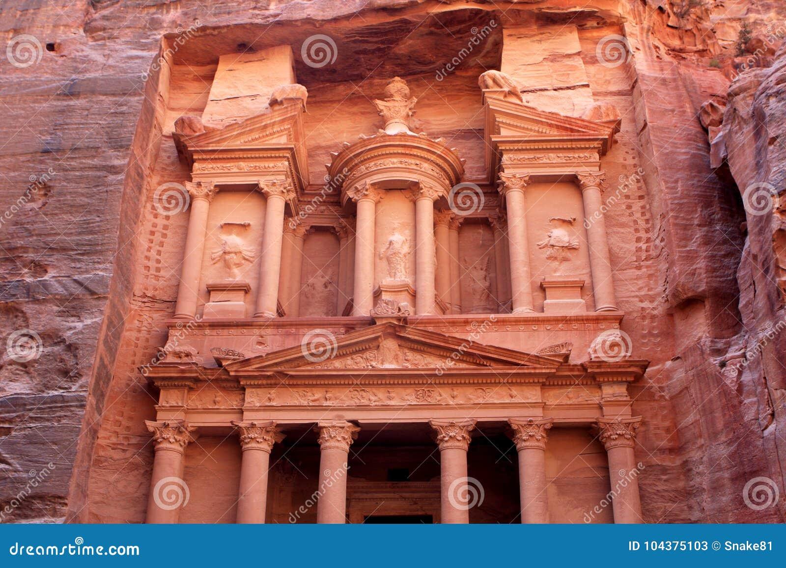 Al-Khazneh temple in Petra, Jordan