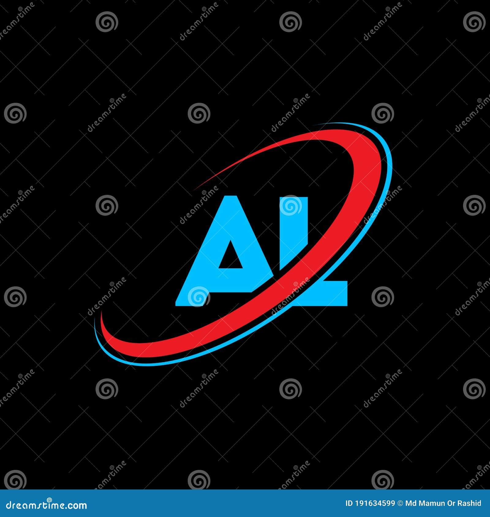 Al A L Letter Logo Design Initial Letter Al Linked Circle Uppercase Monogram Logo Red And Blue Al Logo A L Design Al A L Stock Vector Illustration Of Company Logo 191634599