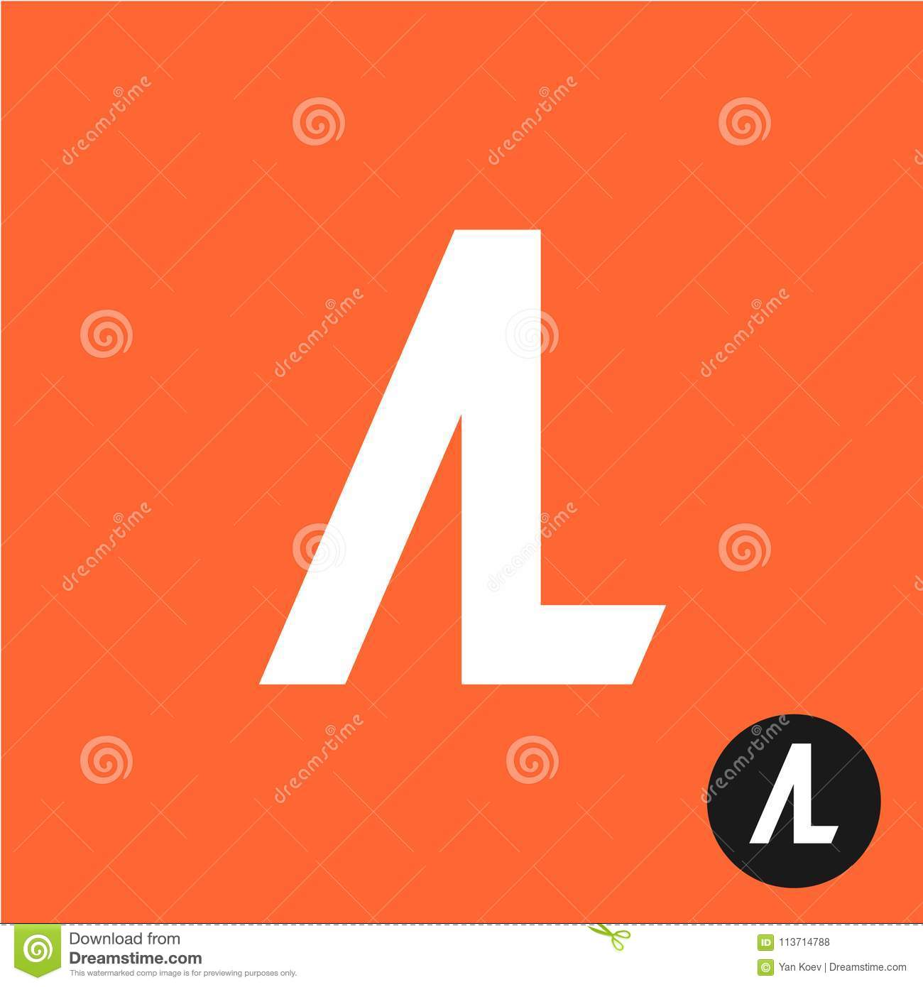 Al Letters Symbol A And L Letters Ligature Stock Vector Illustration Of Letter Piece 113714788