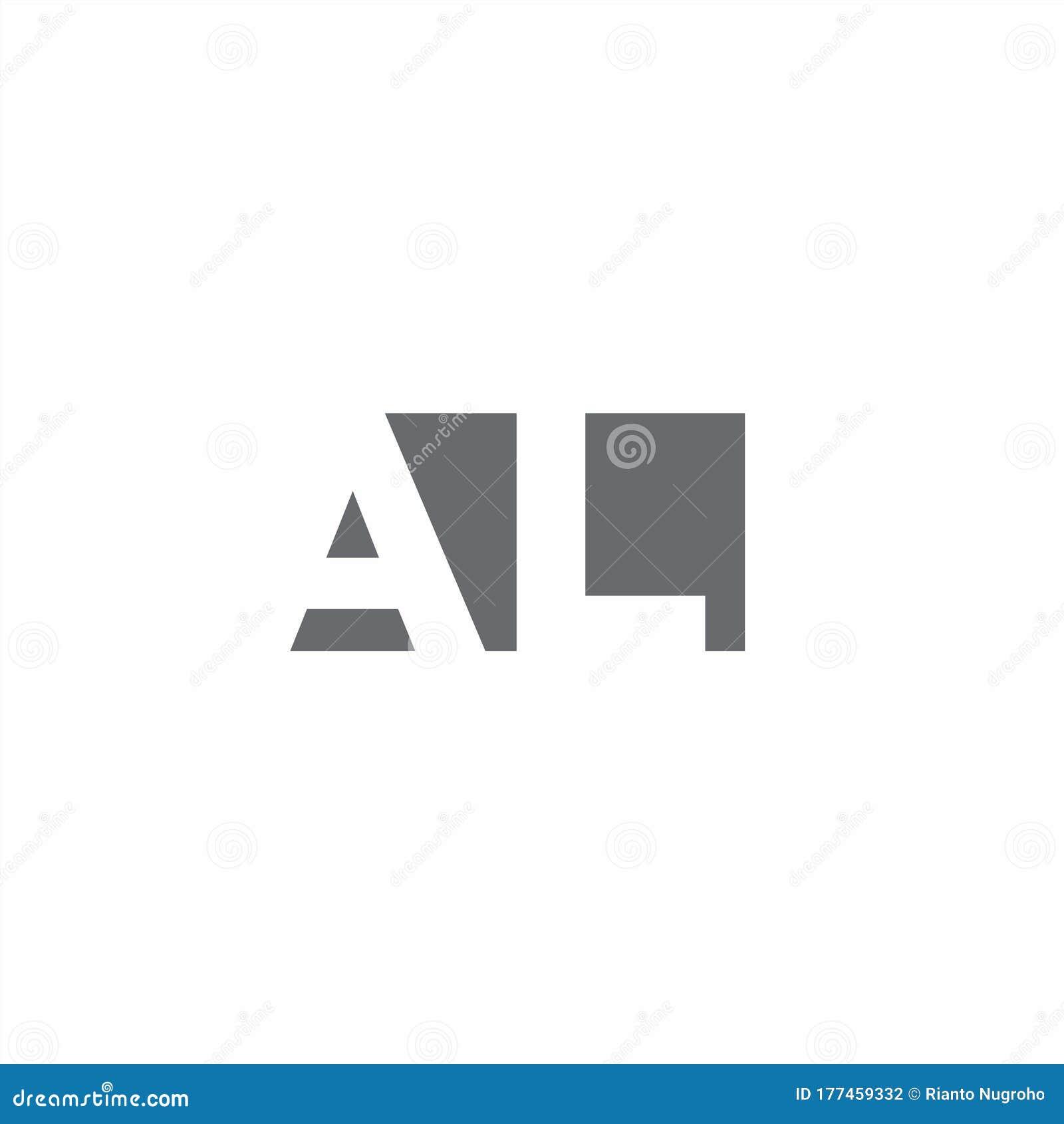 Al Logo Monogram With Negative Space Style Design Template Stock Vector Illustration Of Element Logo 177459332