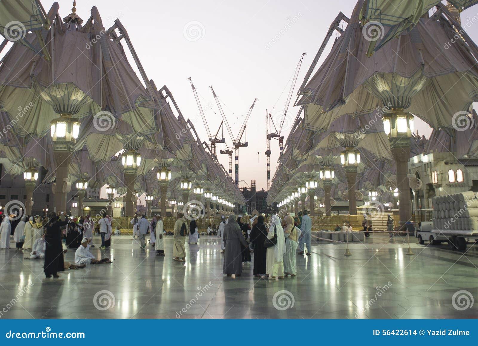 AL NABAWI IN MADINAH editorial stock image  Image of umrah