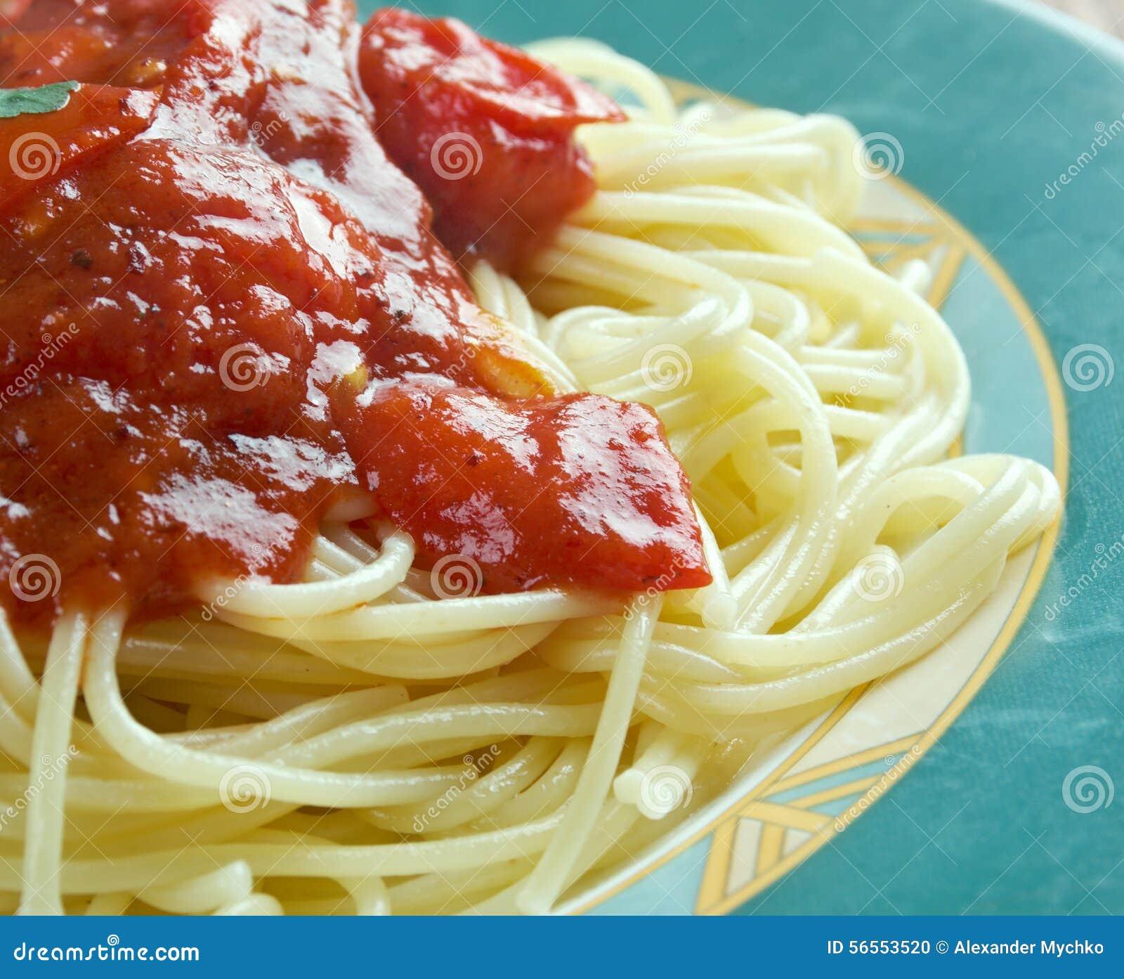 Download Al Pomodoro ζυμαρικών στοκ εικόνες. εικόνα από χορτοφάγος - 56553520