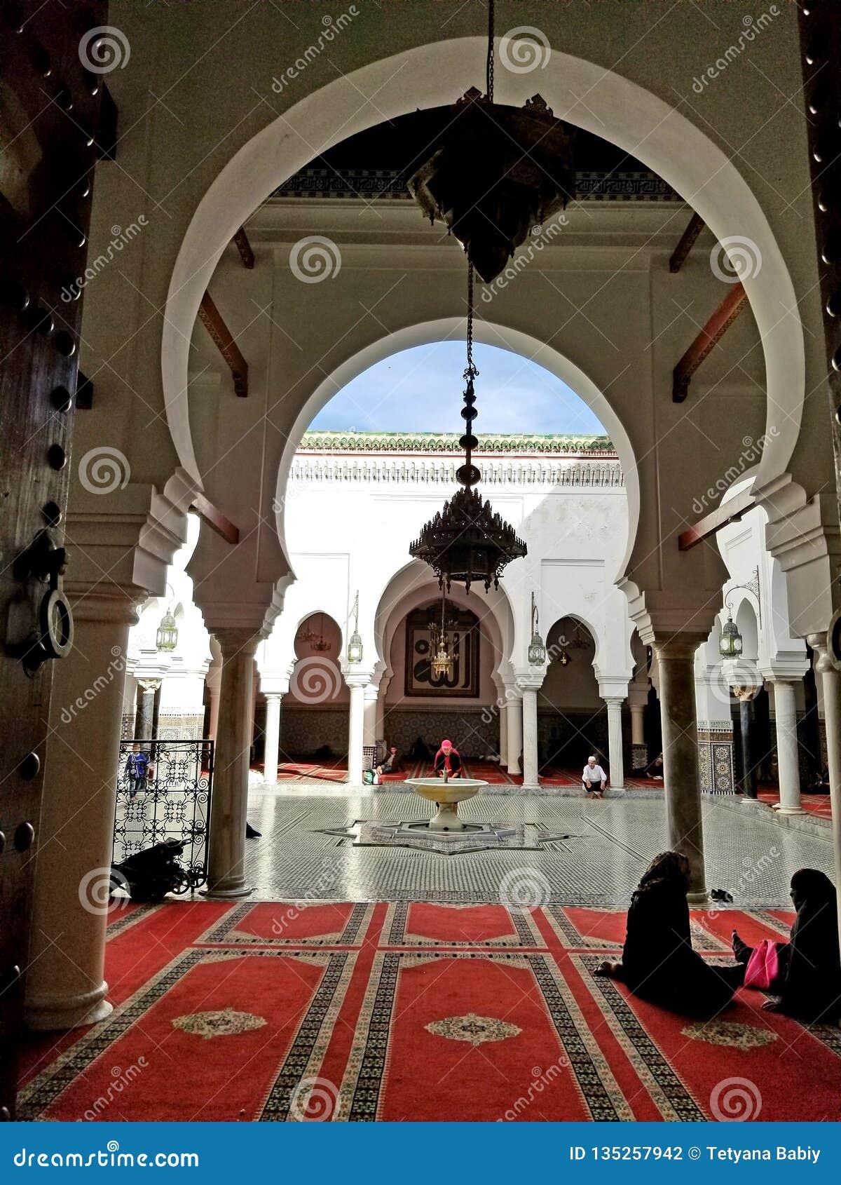 Al-Qarawiyyin d université et de mosquée, Al Quaraouiyine ou Al-Karaouine, Fes, Fez, Maroc, Afrique