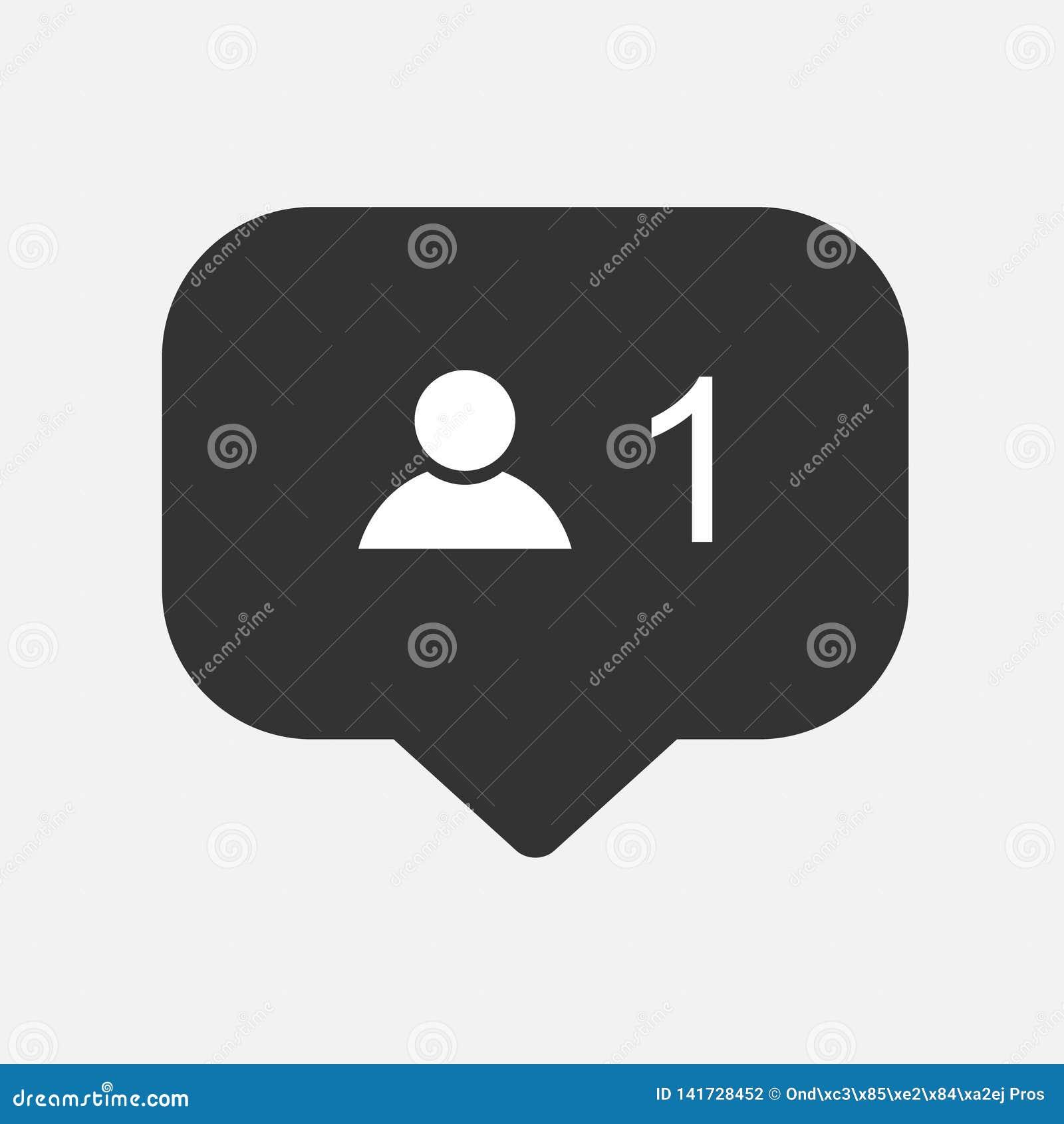 Al revés, instagram del símbolo de la notificación del seguidor de la cantidad de la petición del amigo Buton para los medios soc