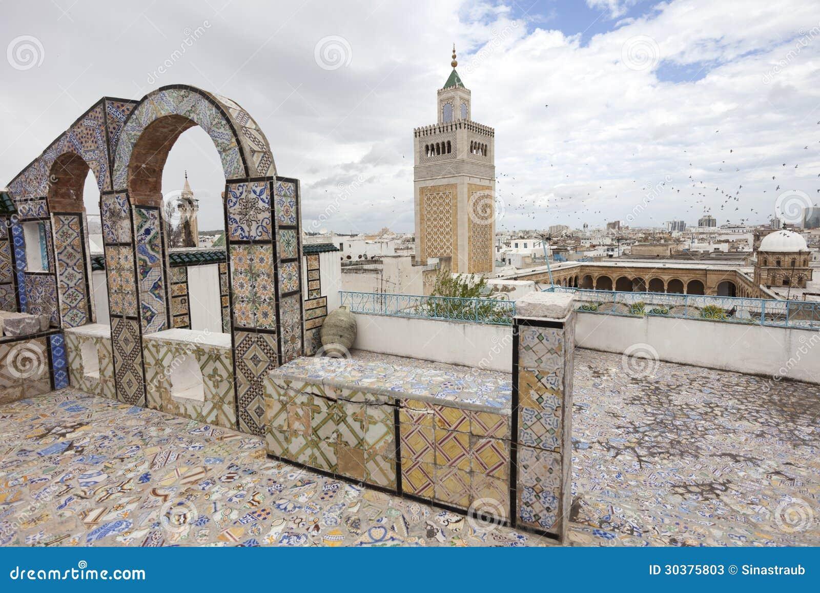 Al Zaytuna Mosque Stock Image Image Of Tunisia Roof 30375803