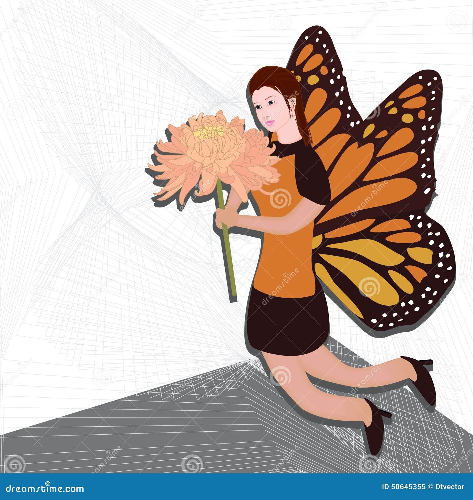 Ala della farfalla della ragazza