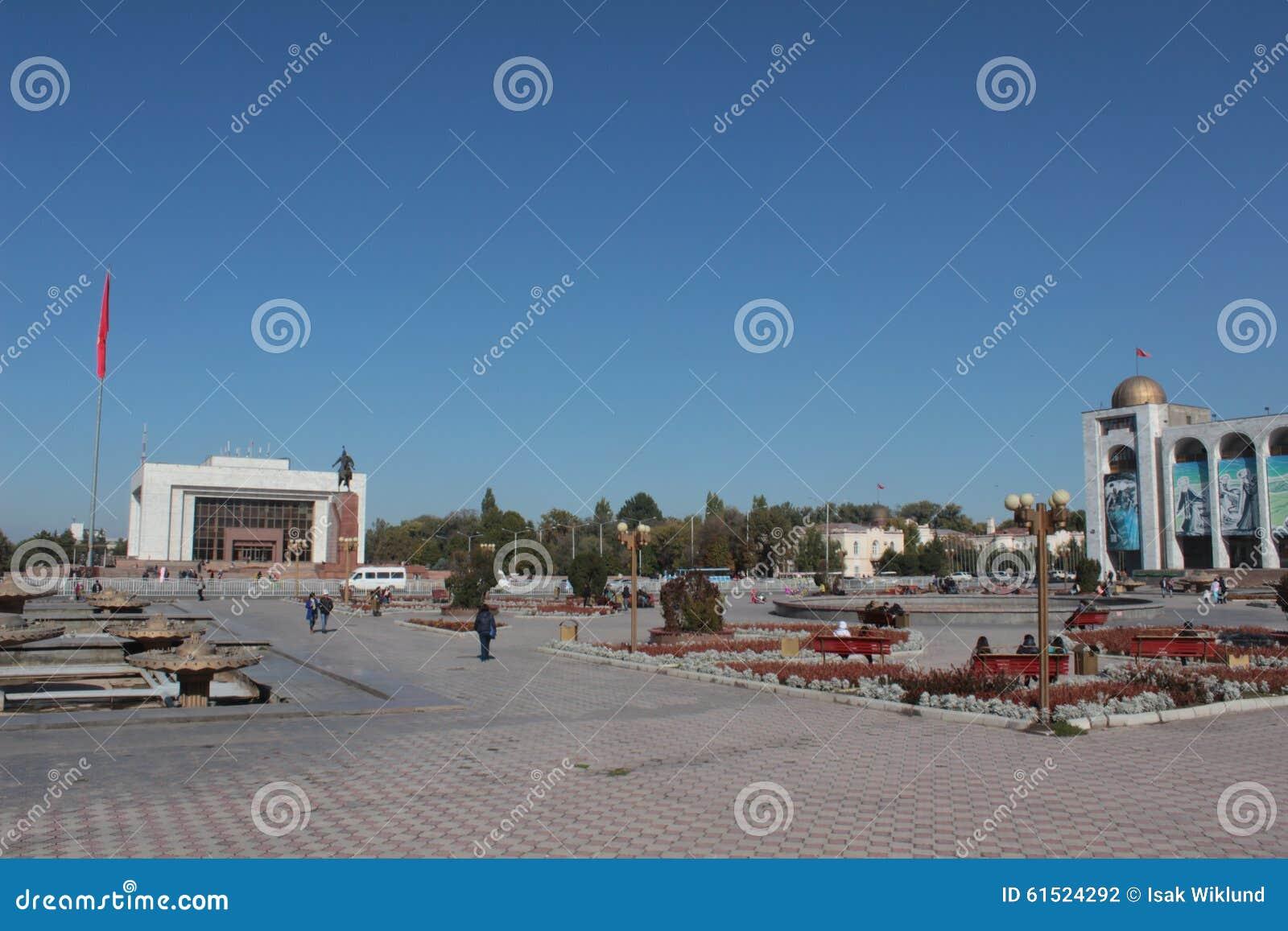 Alaa-too square in central Bishkek, kyrgyzstan