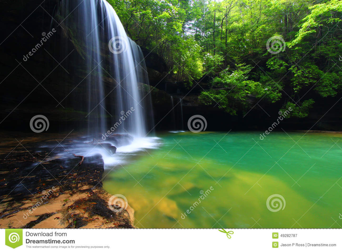 Alabama Waterfall Landscape Stock Photo Image 49282787