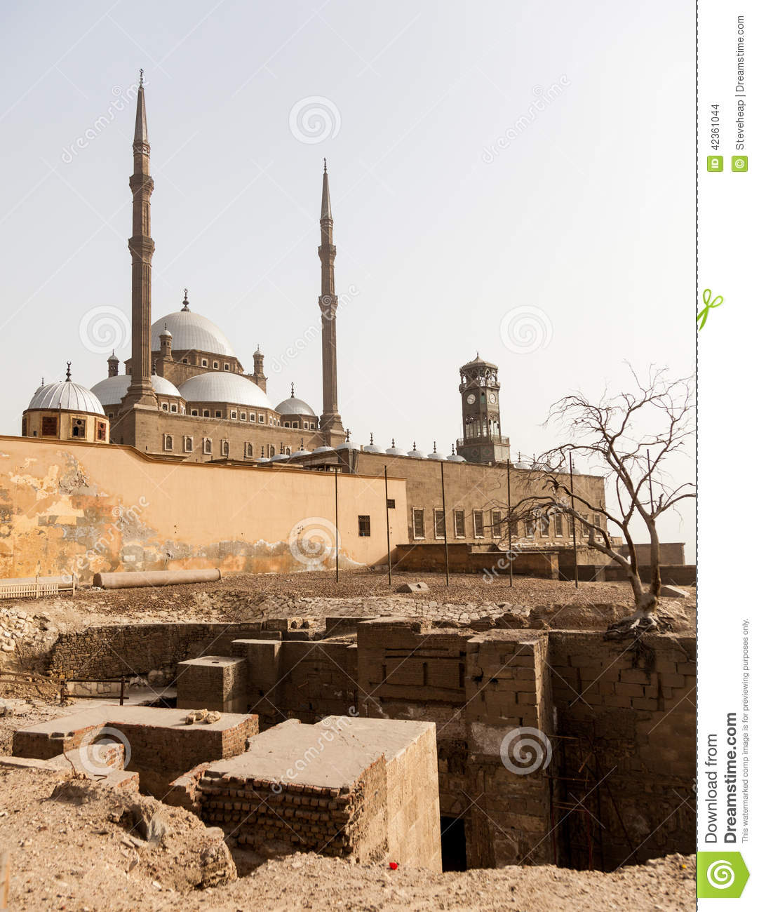 Download Alabaster Mosque Citadel Cairo Egypt Stock Photo - Image of historic, egypt: 42361044