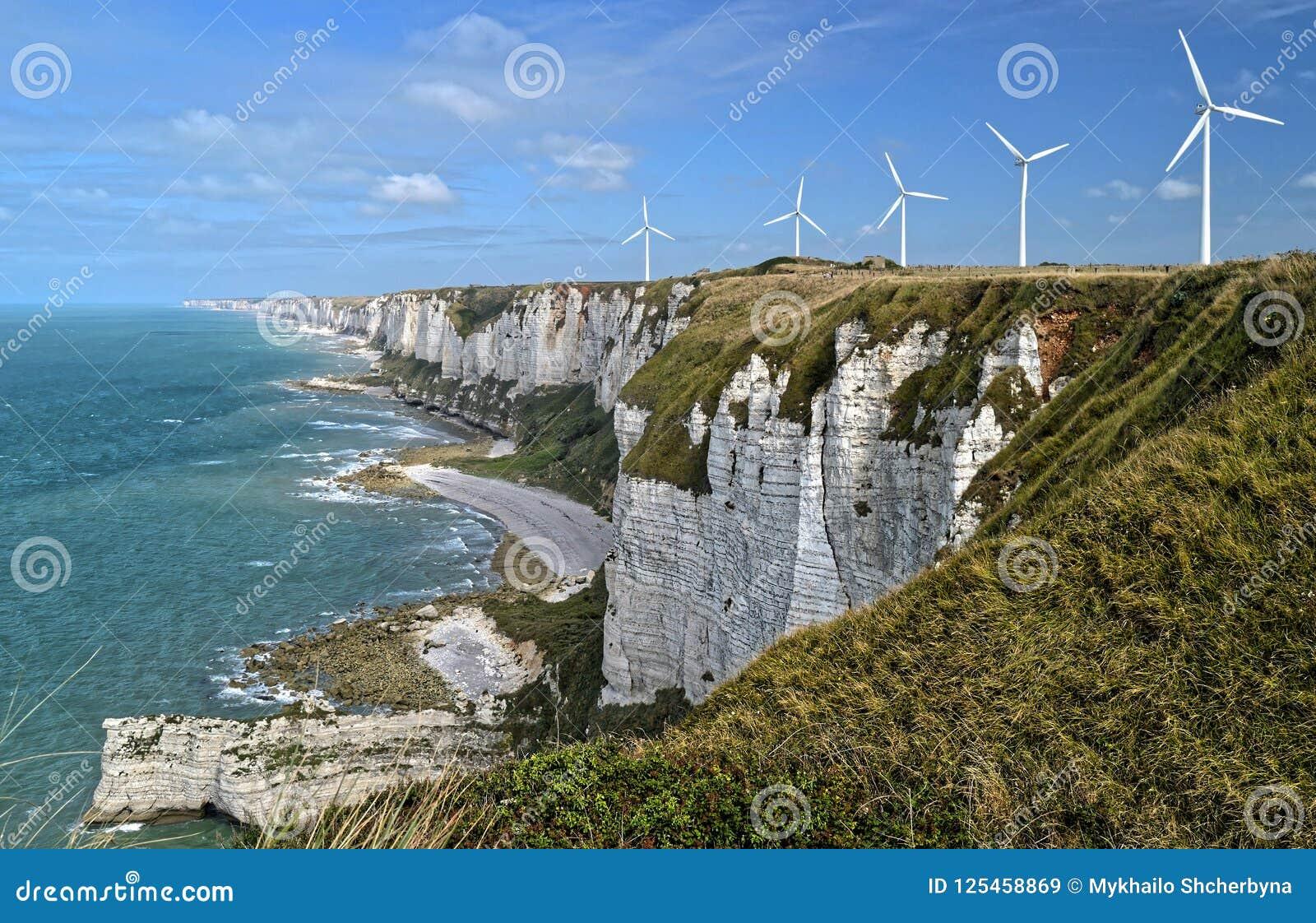 Alabasterklippen Normandie Frankreich Stockbild Bild Von Alabasterklippen Frankreich 125458869