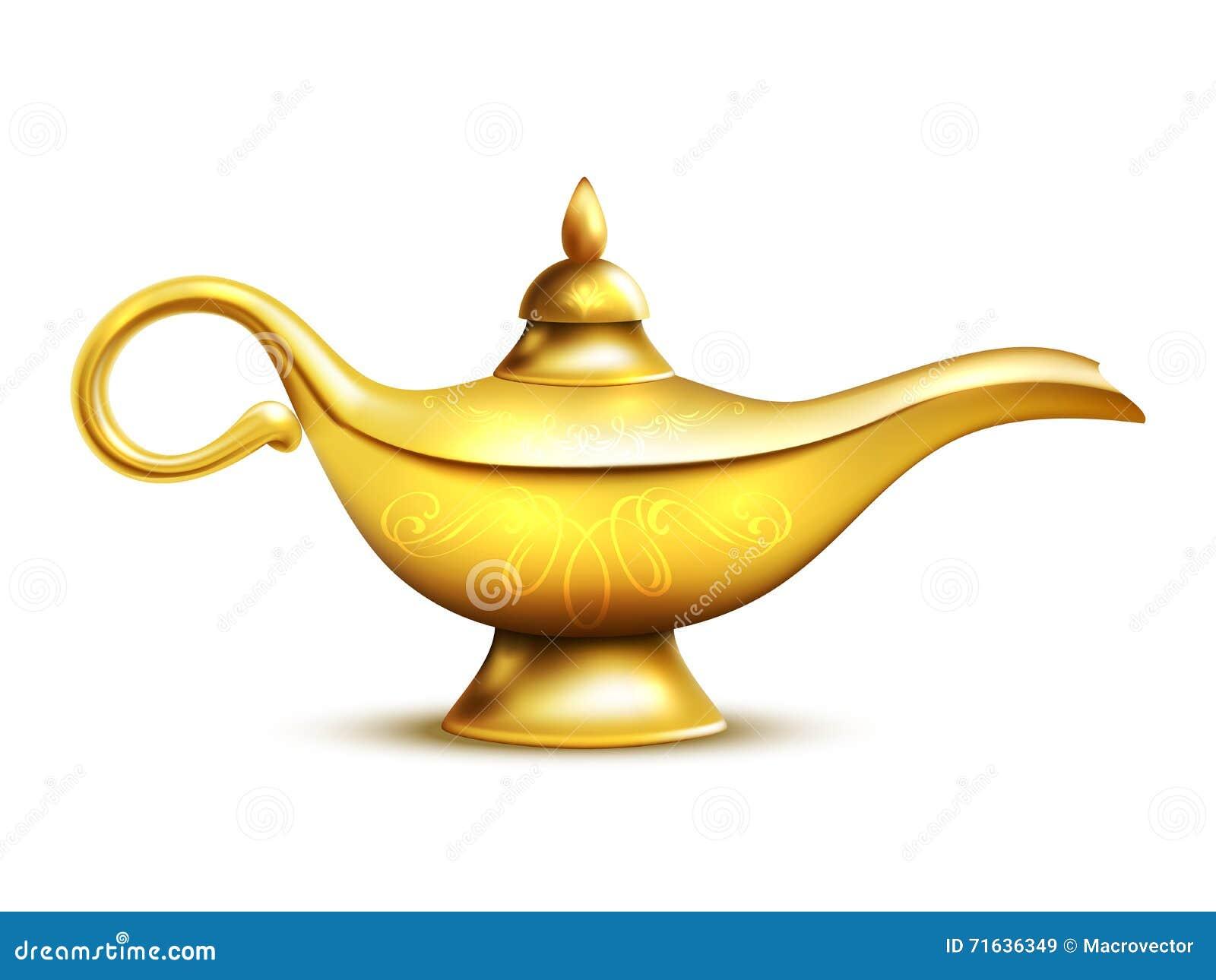 Aladdin Lamp Icon Set Cartoon Vector   CartoonDealer.com ...