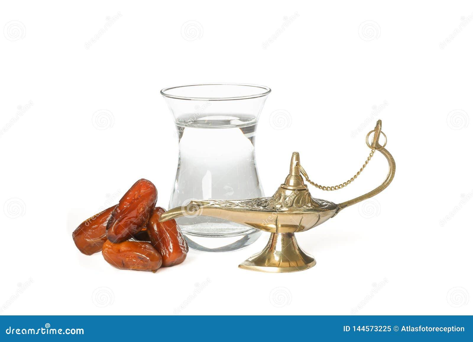 Aladdin lampa z datami i szkłem woda odizolowywającymi