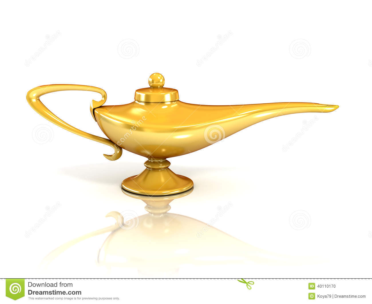 Aladdin Magic Lamp 3d Illustration Stock Illustration ... for Aladdin Lamp Clipart  174mzq