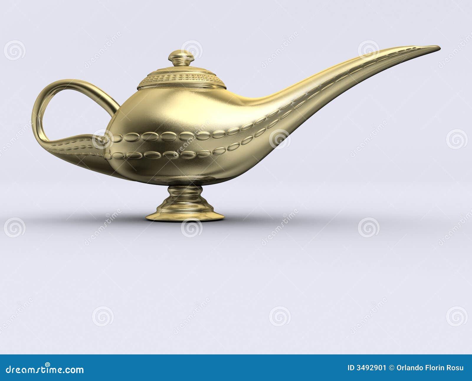 aladin goldene lampe stockbild bild 3492901. Black Bedroom Furniture Sets. Home Design Ideas