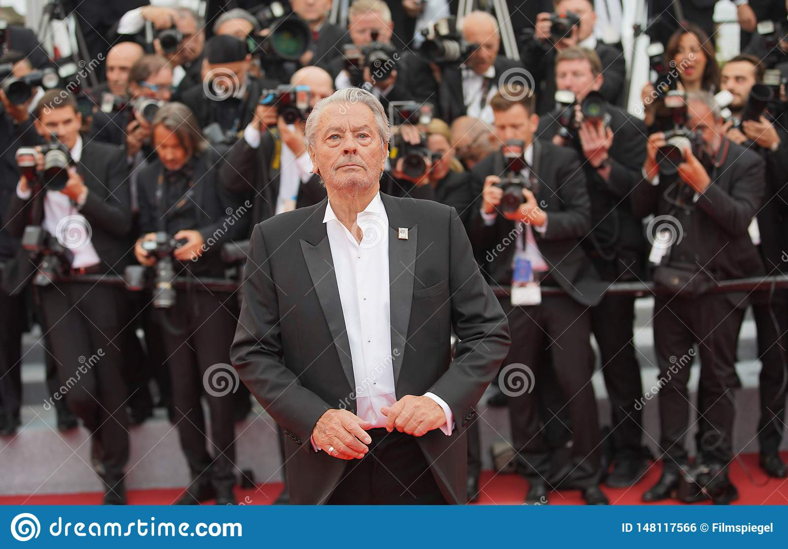 Alain Delon attends the screening