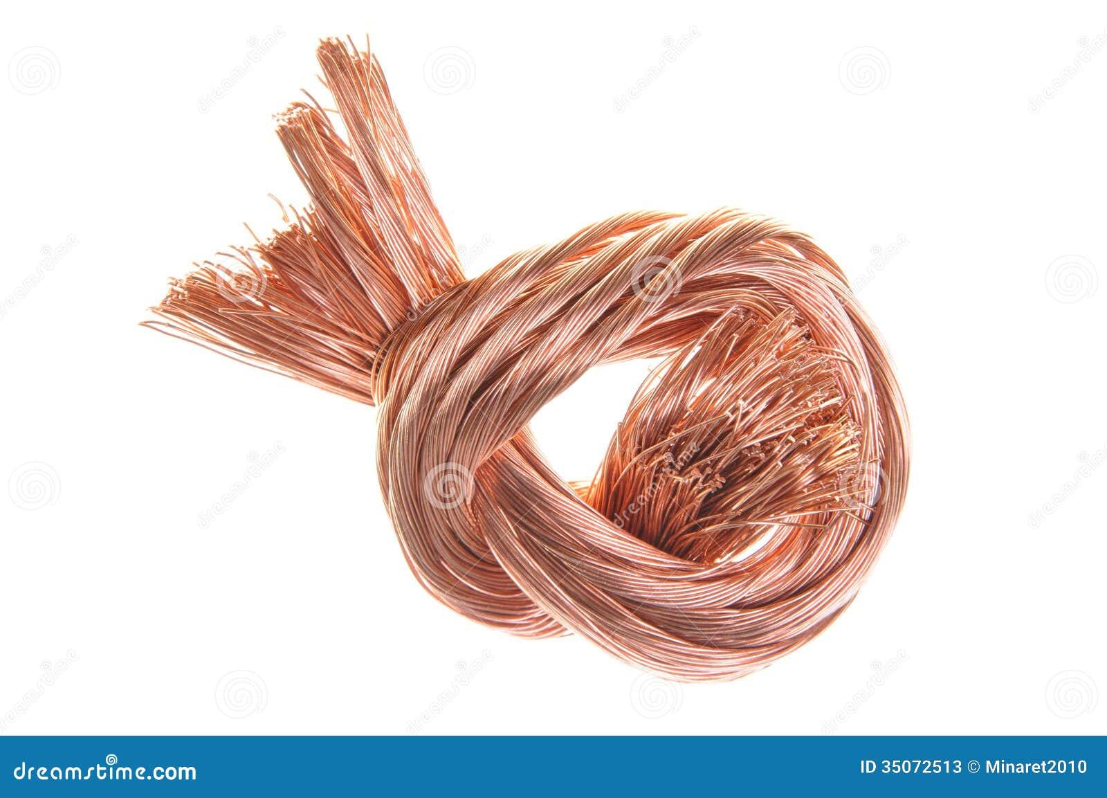 Alambre de cobre del pedazo fotos de archivo imagen - Alambre de cobre ...