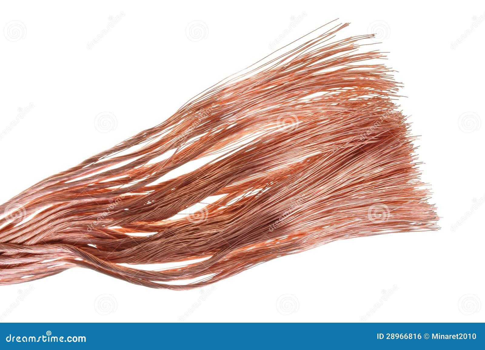 Alambre de cobre puro foto de archivo imagen de conductor - Alambre de cobre ...
