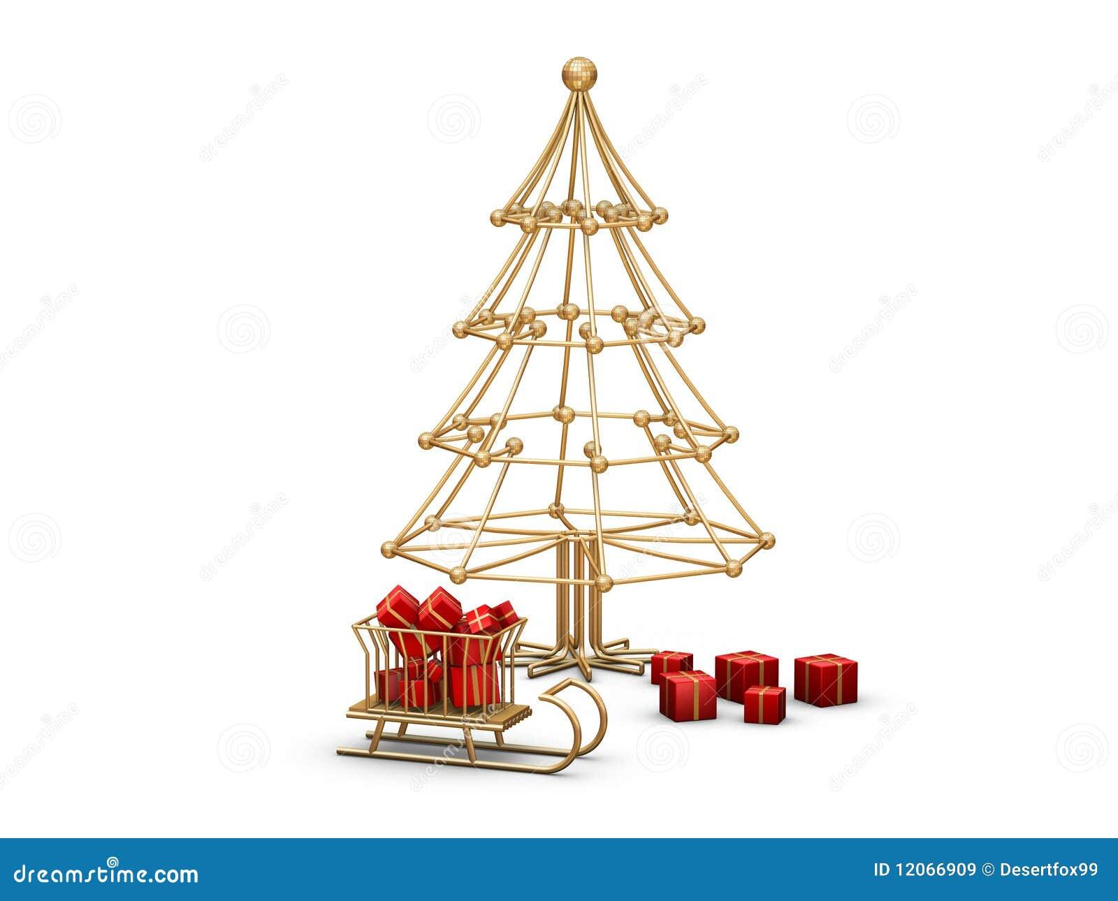 Tubo Del Metal Del árbol De Navidad Stock de ilustración ...