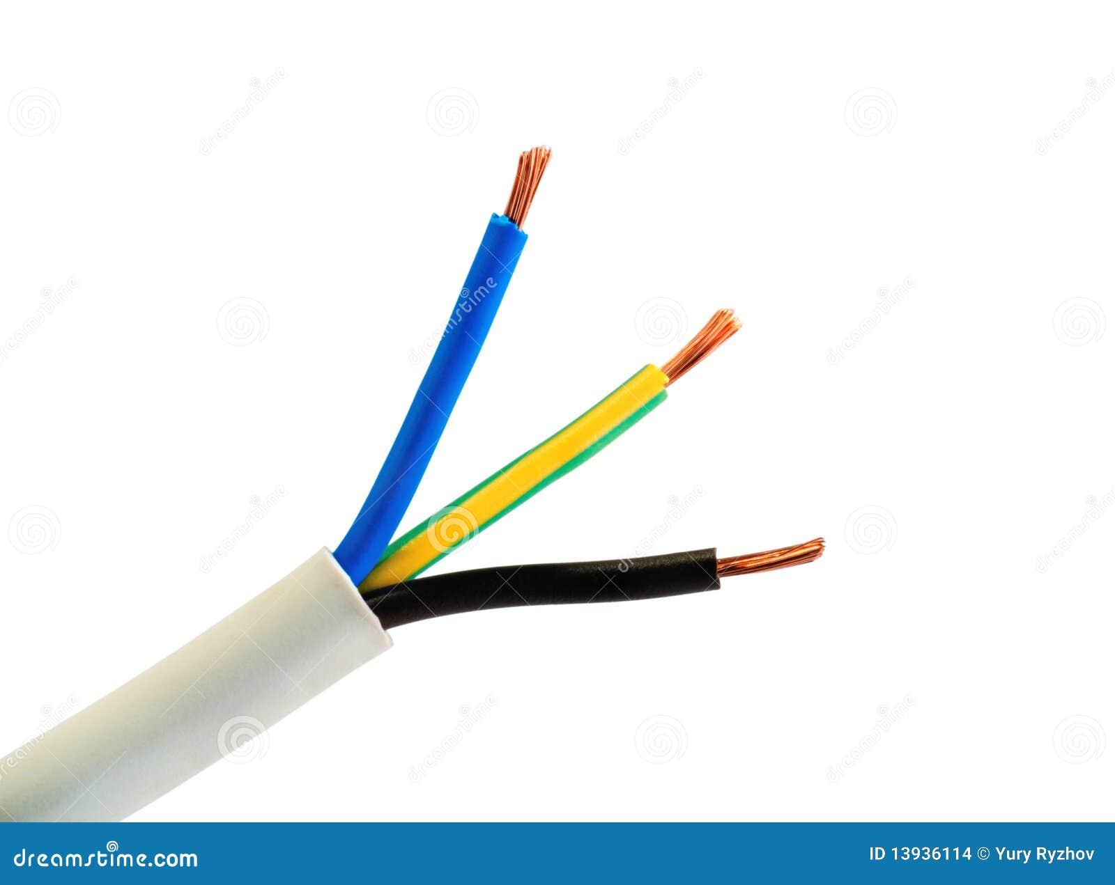 Alambres del cable de la corriente el ctrica imagenes de - Cable instalacion electrica ...