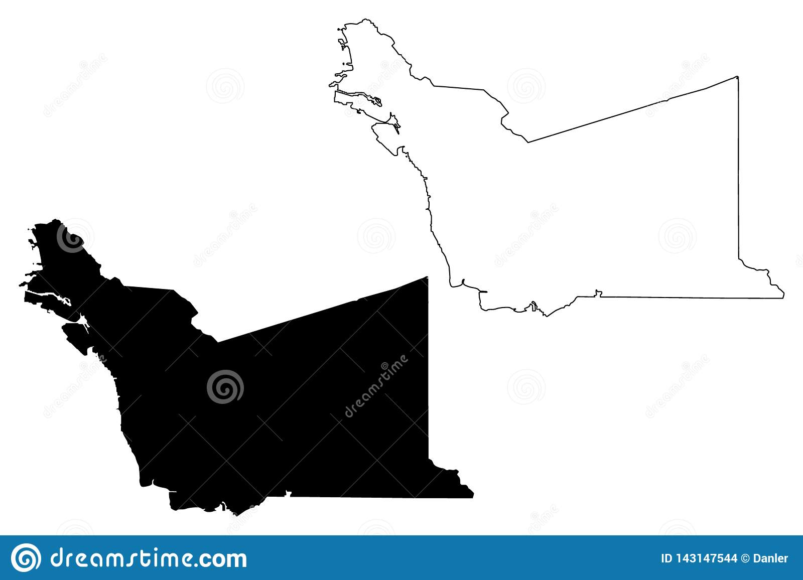Alameda County, California Map Vector Stock Vector - Illustration of ...