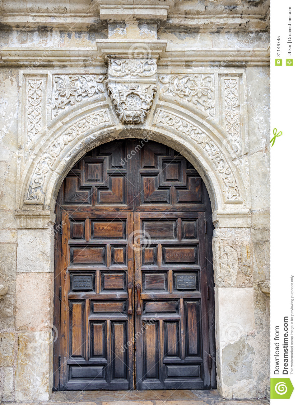 The Alamo S Front Door Stock Image Image Of City