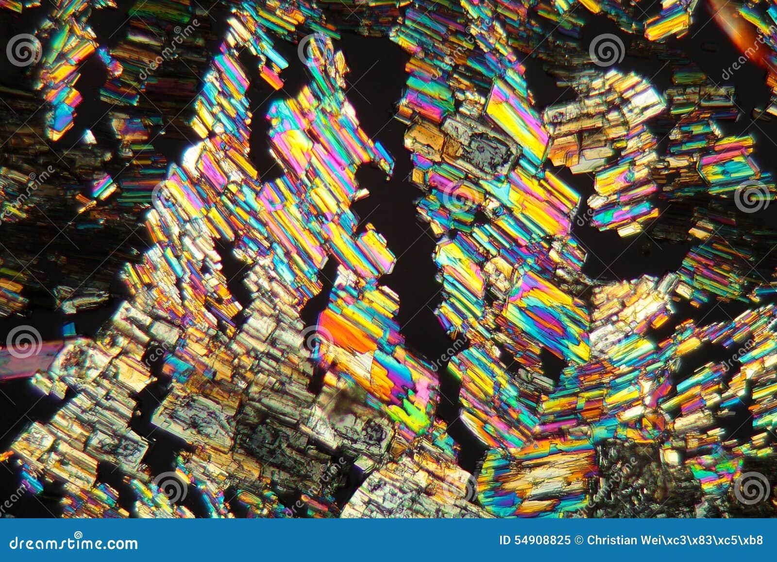 Alanin aminosäure unter dem mikroskop stockbild bild von