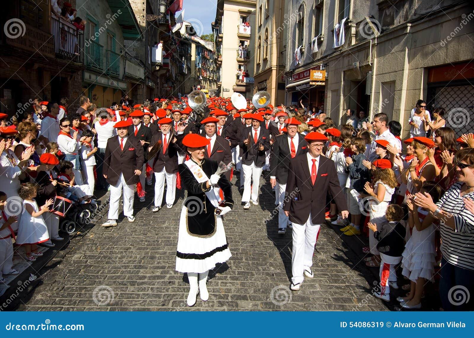Alarde van San Marcial in Iru n Guipuzcoa, Spanje