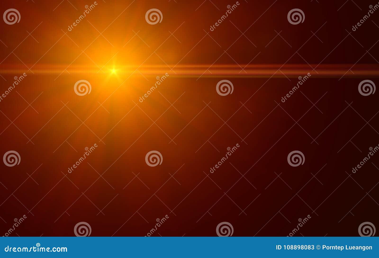 Alargamento natural da lente Luz do alargamento da lente sobre o preto